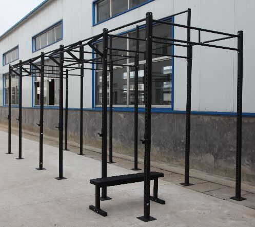 Metal Tube Crossfit Squat Rack , 2.7m Exercise Equipment Accessories