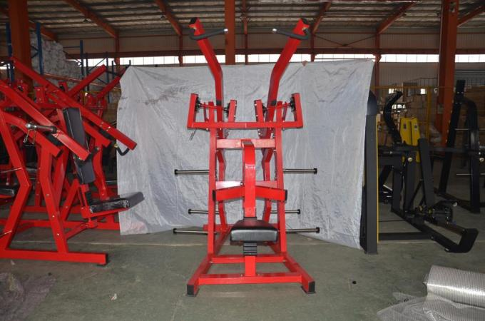 Customized Color Plate Loaded Exercise Equipment , 175kg Iso Lateral Wide Pulldown Machine