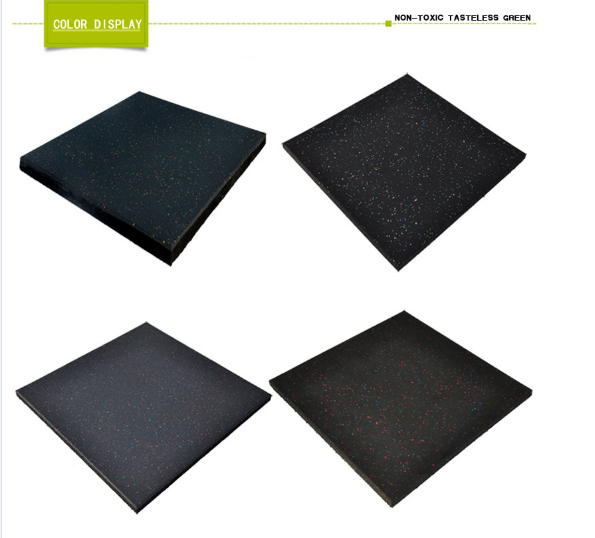 Non Glare Rubber Flooring Material , Heat Insulation Rubber Floor Mats