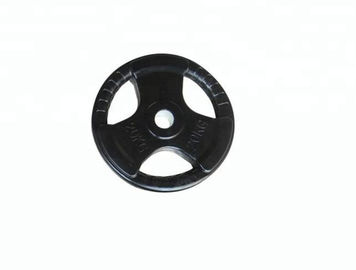 China Gym Black Cast Fitness Equipment Accessories / Iron Weight Plate Barbell Tablets supplier