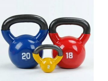 China Plastic Dipped Kettlebell Fitness Equipment Accessories With Rubber Coated supplier