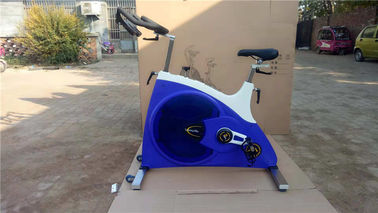 China Belt Transmission Aerobic Gym Equipment / Spin Exercise Bike Two Way Direction supplier