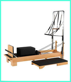 China White Maple Wood Yoga And Pilates Equipment / Pilates Reformer Equipment distributor