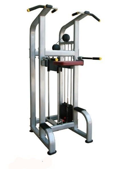 User Friendly Seated Row Machine Exercise Equipment , Indoor Chin Dip Assist Machine